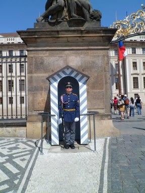 Keeping guard at the castle, Prague May 2012