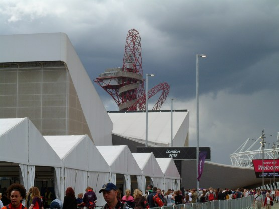Arriving at the Olympic Park
