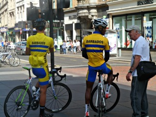 Team Barbados cyclists at Glasgow Commonwealth games