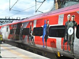 X-Men on platform 2 at Glasgow's Central Station