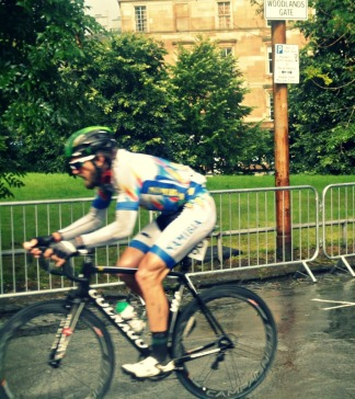 Rider for Namibia in cycling road race at Glasgow 2014